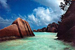 the rocks (*Secretgarden) Tags: ocean blue green beach water rock stone wow interesting colorful indianocean wave seychelles colourful ladigue notsobad specland  abigfave