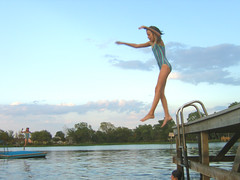 Double jump (rt44man) Tags: summer lake water swimming fun happy jump hannah yost utatajumps