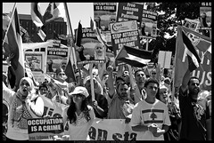 Occupation is a Crime (danny.hammontree) Tags: blackandwhite bw lebanon usa art march israel washingtondc washington bush districtofcolumbia nikon war peace unitedstates iran god palestine flag muslim georgewbush fear faith georgebush politics iraq whitehouse rally religion protest d2x middleeast photojournalism saturday august 2006 christian demonstration arab antiwar violence jew jewish zionism judaism antibush nikkor fascism beirut lafayettepark israeli activist liban violent لبنان palestinian occupation orthodoxjews waronterror marches rallies coexist 你好 hammontree digitalgrace nikond2x 和平 peacemovement dannyhammontree wwwdigitalgracecom warsucks اسرائيل sfchronicle96hours freelebanon سلا صلح روبان مشكي 黑絲帶 黎巴嫩以色列 20060812