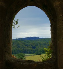 Through the funny shaped window! (freebird4) Tags: window d50 nikon creativecommons top20windows chepstowcastle cadw abigfave southeastwales