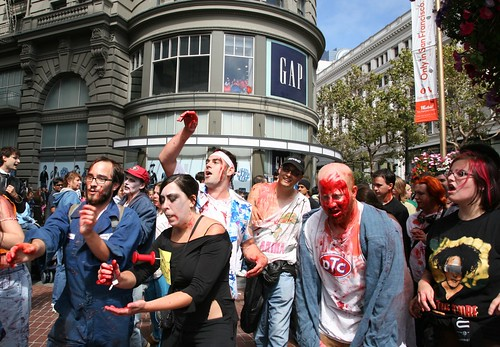 Zombies Invade San Francisco! by Scott Beale / Laughing Squid, on Flickr