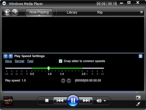 wmplayer - play speed settings