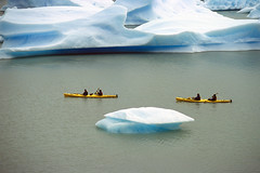 Floating (Walter Quirtmair) Tags: 2005 chile november patagonia lake film ice southamerica water canoe glacier torresdelpaine iceberg coolscan swq takenbywalter lagogrey eos300 tracklagogrey canon35105