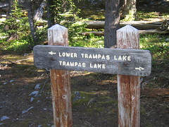 Trampas Lakes Sign Photo