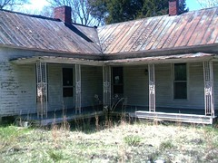Abandoned House (BluegrassAnnie) Tags: old roof house abandoned tin rusty porch deserted colums