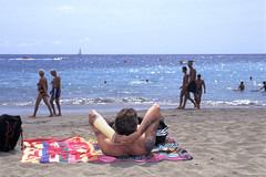 F-0319.jpg (Alex Segre) Tags: sea vacation people holiday man english beach islands spain canarias tourist tenerife british leisure canary canaryislands sunbathing playadelasamericas alexsegre