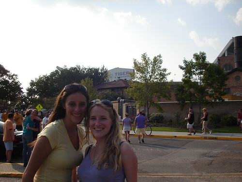 Me and Liz tailgating at our first LSU football game