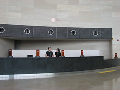 Information Desk, National Museum of Korea (Ian Muttoo) Tags: reflection english reflections eyecontact desk korea seoul informationdesk information nationalmuseum nationalmuseumofkorea