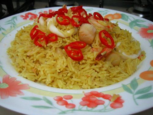 Seafood Yellow Rice + Recipe