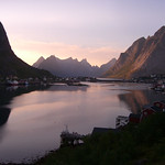 Sunset at Reine, Lofoten islands, Norway