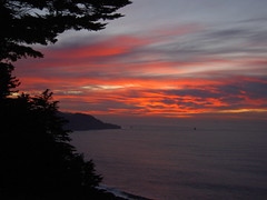 Pacific Ocean Sunset over Lands End (2composers) Tags: ocean sunset sky landscape evening nationalpark san francisco pacific presidio 2composers compositionsphotography