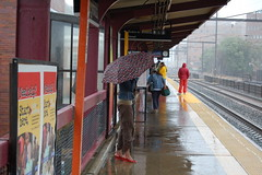 Artistic? (bluesky88) Tags: new york railroad slr wet rain train umbrella d50 subway nikon images transit jersey dlsr bluesky88