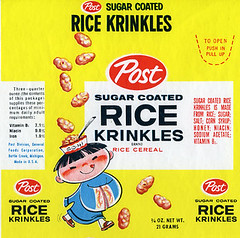 Post Rice Krinkles cereal ...