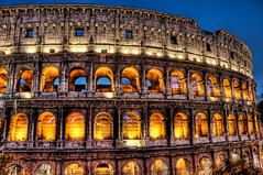 Colosseum by Candlelight (Stuck in Customs) Tags: italy rome roma italia d70 stadium colosseum hdr colosseo