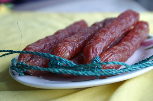 Chinese dried sausages