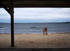 Stonington (Hourman) Tags: ocean summer beach topv111 chair deleteme10 empty ct atlantic stonington 4seasons