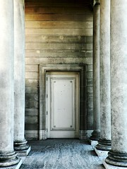 Doorway to Another Dimension (Tom Q) Tags: white cold grey pillar dimension albumcovers legionofhonour almostmonochromatic exitorentry
