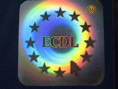 ECDL logo hologram