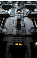 meanwhile in Cuba (Vina the Great) Tags: street people house balcony havana cuba artdeco lahabana darkened disintegration watchingthesillytourist edificiosanmiguel