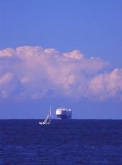200608 017 Sydney (williewonker) Tags: new blue sea sky cloud wales boat ship south transport australia cargo sail elitechromeslide friendlychallenges