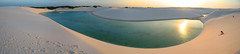 Lenis Maranhenses - 07 (Ric e Ette) Tags: sunset brazil autostitch panorama lake topf25 water topv111 brasil topv2222 ma lago nationalpark pond sand topv555 topv333 desert areia pano dunes topv1111 dune topv999 lagoon panoramic prdosol oasis topv777 lagoa duna gua maranho dunas deserto panormica barreirinhas parquenacional  lenismaranhenses 3mp topvaa interestingness333 grandeslenis parquenacionaldoslenismaranhenses leparcnationaldulenismaranhenses gettyimagesbrasil