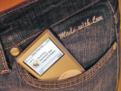 Peek Pocket (purplelime) Tags: me apple ipod sam jeans nano