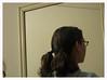 hair (S. Balcomb) Tags: selfportrait reflection brooklyn hair mirror interior frame backofmyhead