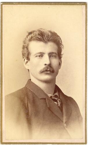 Man With Moustache, Carte De Viste, Davenport, Iowa