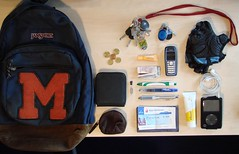 What's in my bag (kelpatate) Tags: california money amsterdam bike pen work lunch nokia key ipod perfume euro wallet merced lips highschool gloves purse badge tenerife glove pens whatsinmybag davidoff sparechange puertocruz balonmano labello alfason