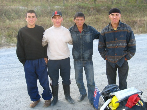 The local lads, near Dodomol, Kyrgyzstan