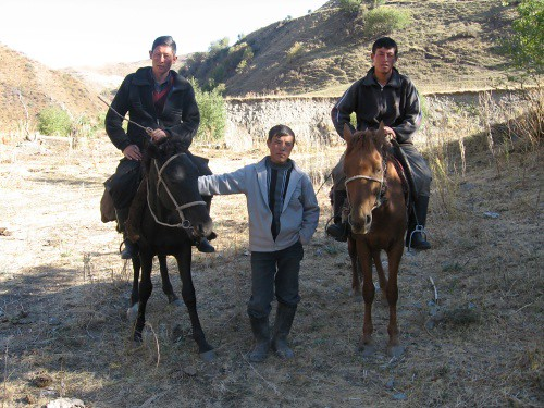 More local Kyrgyz blokes that insisted that their photo be taken - Kaldama Pass, Kyrgyzstan