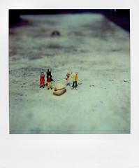 micro exhibition (Laurent Orseau) Tags: colour polaroid sx70 frankfurt character exhibition micro peanut