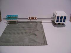 Micro Moonbase Monorail (Bill Ward's Brickpile) Tags: lego space moonbase moc legomodels microscale micromoonbase