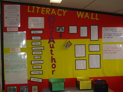 Literacy wall 2 by LindaH, on Flickr