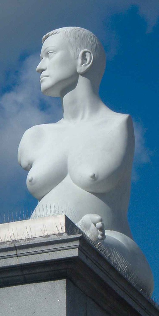 Nude scupture of disability in london