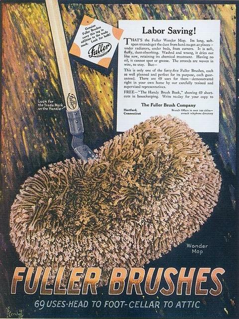 Fuller Brushes ad, 1921
