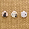Amigurumi Mr Poop and Mr Toilet Paper Button Set- one inch pin badges (Amigurumi Kingdom) Tags: anime cute bathroom japanese weird pin buttons toilet badge poop kawaii button amigurumi