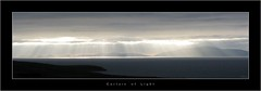 Curtain of Light (HaukeSteinberg.com) Tags: ireland panorama landscape bravo widescreen irland kerry explore sunrays a80 ringofkerry dinglebay ire blasketislands canonpowershota80 fiveflickrfavs ratemylandscape2325