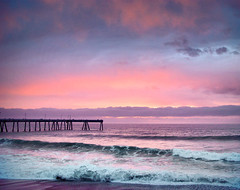 Sunset Sky and Pacifica's Pier (deegolden) Tags: ocean california sunset seascape landscape waves pacific pacifica pacificapier
