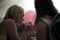 girls light up (jæms) Tags: pink girls party girl hat cowboy cigarette balloon smoking farewell lighter smoker 50mmf14 zanny