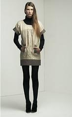 Two Tone Denim Dress, Ladder Knit Skivvy (jazzbabyal) Tags: lover w07