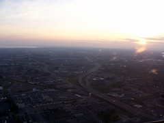 Flying over Montreal (sarah0s) Tags: sunset flying montreal arial