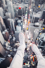 Converse x EmbellishNYC over New York City (BrendanBannister) Tags: new york city long exposure sunset sunflare brookyln manhatten flynyon nyonair helicopter aerial photography subway backdrop bokeh