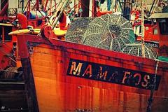 IMG_0058 Mama Rosa (Rodolfo Frino) Tags: colorful boat boats mardelplata argentina mama rosa fishing net port puerto decay orange bright