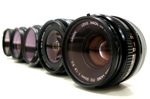 Line-up of Lenses (by canonsnapper)