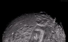 Miranda - Looking North (Lights In The Dark) Tags: uranus miranda voyager moon nasa space