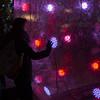 touch (Cosimo Matteini) Tags: cosimomatteini ep5 olympus pen m43 mzuiko45mmf18 london canarywharf jubileeplaza canarywharfplaza winterlights lightinstallation lightsfestival soniclightbubble eness people person woman touch led candid