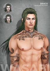 New Draco hair @ Fantasy Faire 2018! (Wasabi // Hair Store) Tags: wasabipills 3d mesh hair secondlife mayfly signature catwa stray dog fusion coco whitewidow