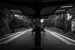 so close yet so far away / Zusammen ist man doch so allein (*) (Özgür Gürgey) Tags: 2018 50mm bw d750 darkcity eppendorferbaum hamburg nikon architecture grainy lines people signs station street subway symmetry juxtaposition photingo