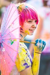 Festival of Colors, Spanish Fork, UT (Thomas Hawk) Tags: festivalofcolors festivalofcolors2012 hindu holi jarviewalk jarviewalk2012 spanishfork usa unitedstates unitedstatesofamerica utah umbrella fav10 fav25 fav50